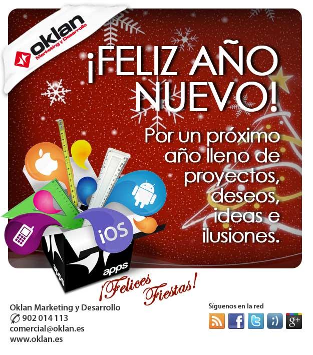 Oklan.es le desea ¡Felices Fiestas!